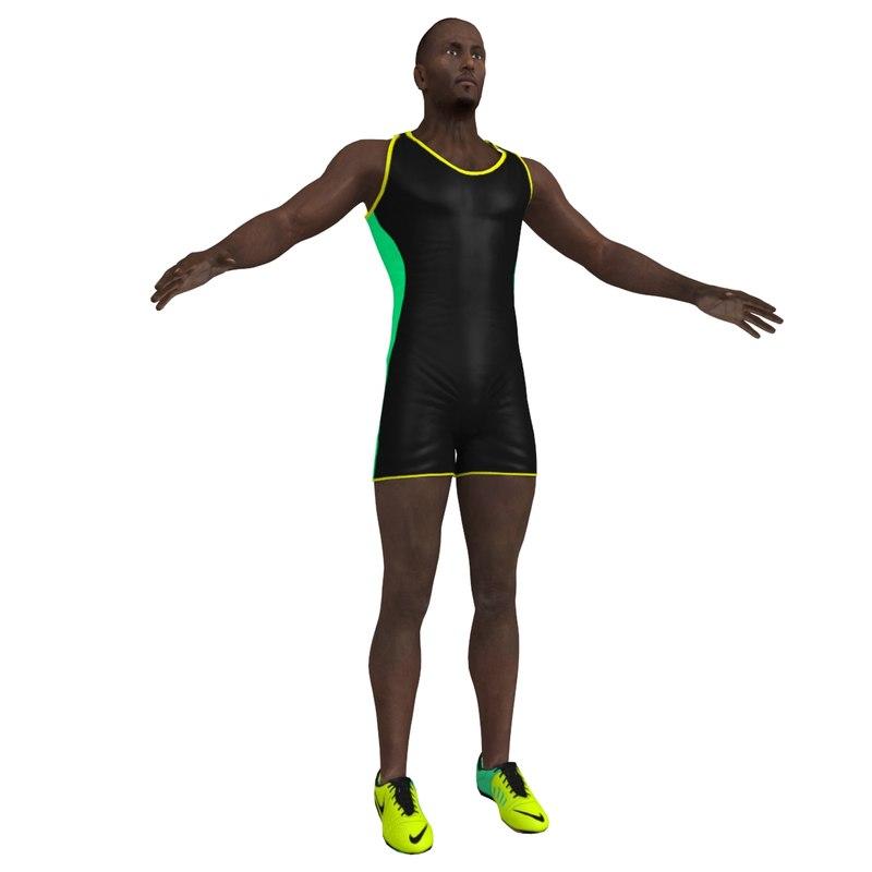 3d model of sprinter man