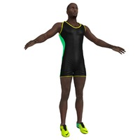 3d model of sprinter man