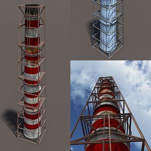 3d chimney modelled