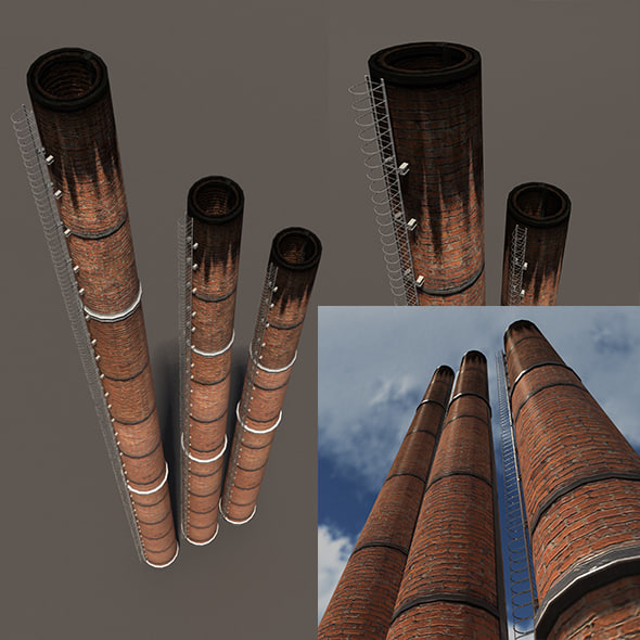 3ds chimney modelled