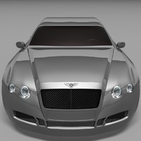 3d model bentley continental gt