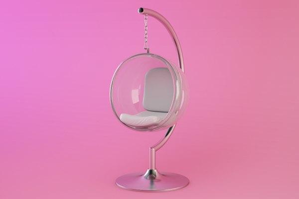 eero aarnio bubble chair 3d model