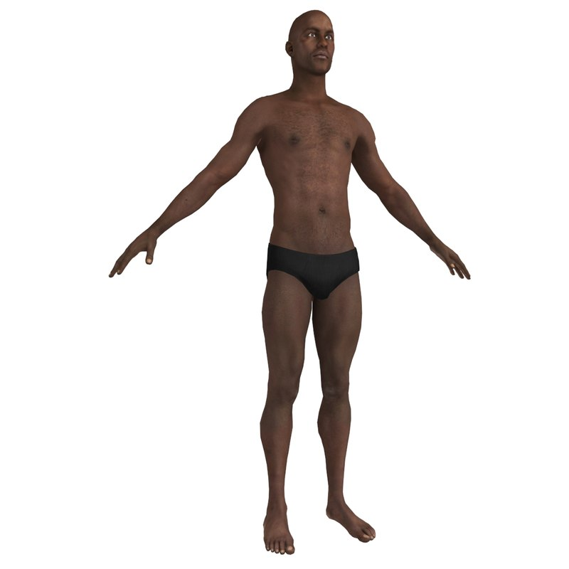african male body man 3d model