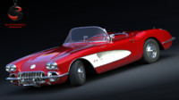 3d chevrolet corvette c1 1960