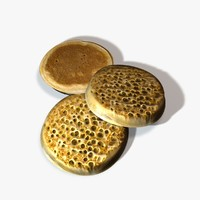 3d model pancake english muffin
