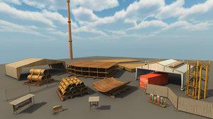 shipyard assets 3d model