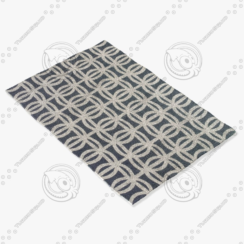 sellarsbrook blue rug 3d model