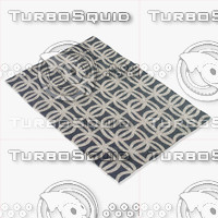 sellarsbrook blue rug 3d model