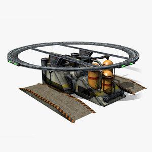 model sci-fi structure