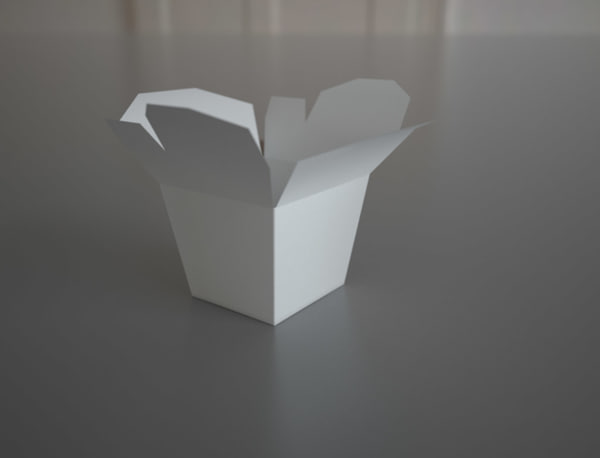 chinese food box oyster 3d model