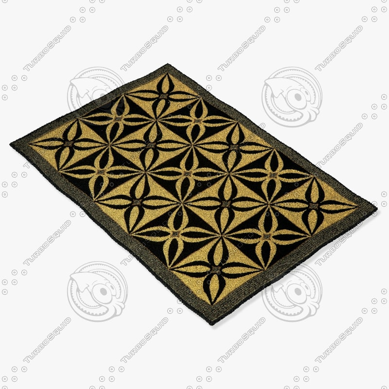 osted rug ikea 3d model