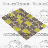 yellow rug ikea 3d model