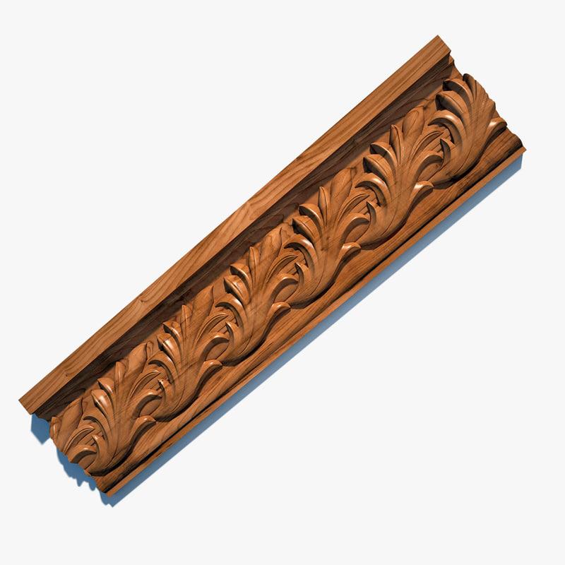 3ds wooden cornice el60