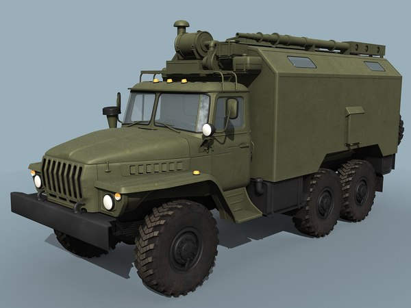 3d model ural-43203 command vehicle