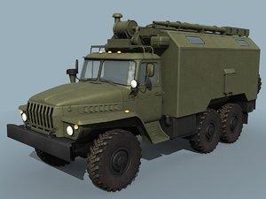 3d model ural-43203 command vehicle