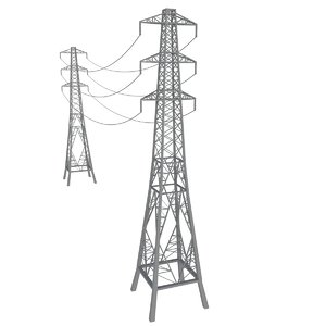 electric tower line 3d 3ds