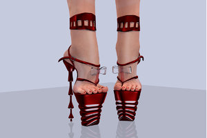 3d feet shoes model