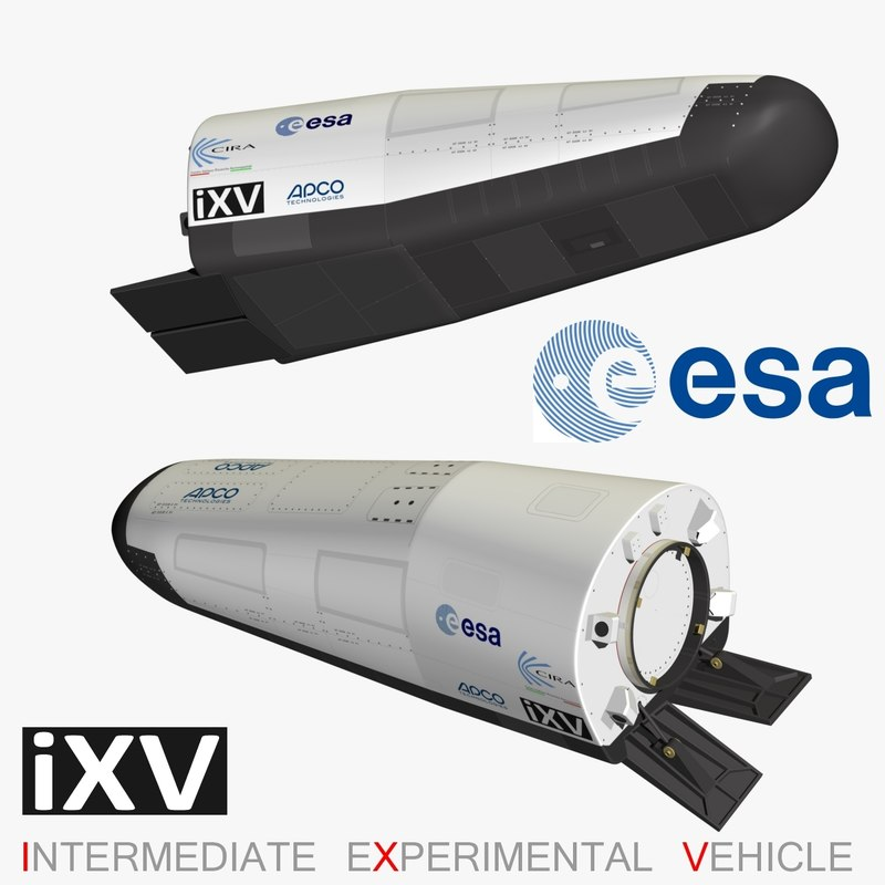 3d ixv intermediate experimental vehicle model