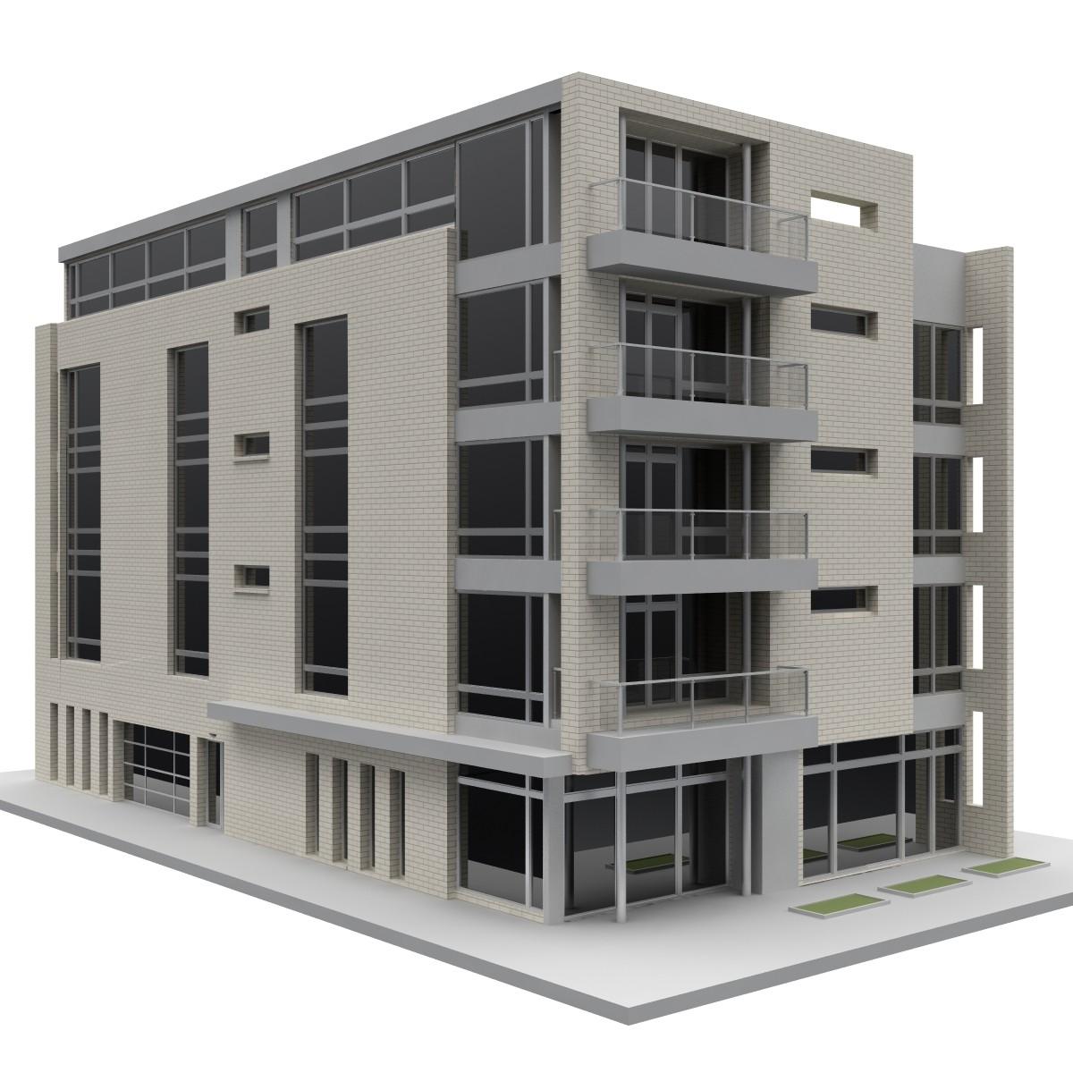 3d model building office for 3d house builder