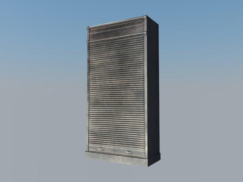metal cabinet 3d 3ds