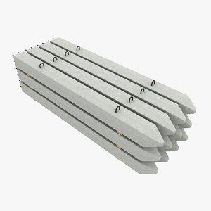 model of concrete piles
