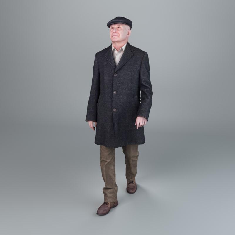 3d model man winter