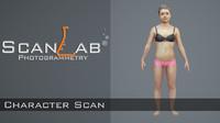 body scan - rigged female fbx