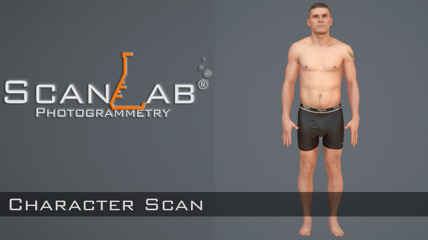 fbx body scan - rigged male