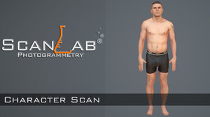 3d body scan - rigged male model