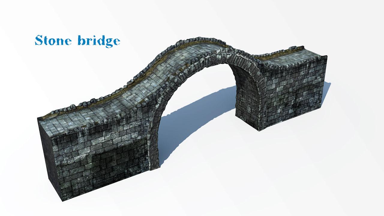 obj bridge stone
