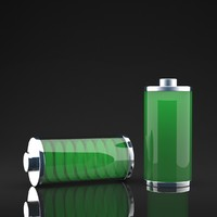 glass battery 3d model