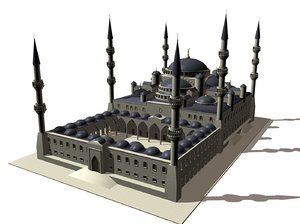 cinema4d blue mosque