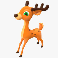 3d deer cartoon