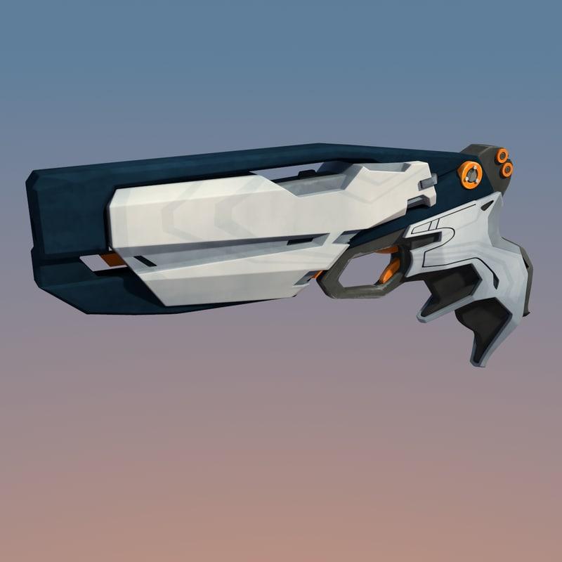 sci-fi pistol gun