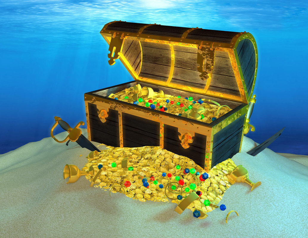 antique treasure chest 3d c4d