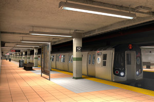 3d new york subway stations
