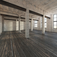 fbx base loft interior scene