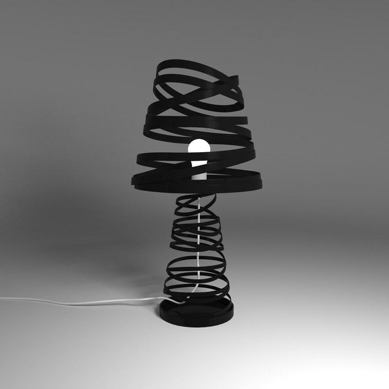 3d 3ds curl light lamp