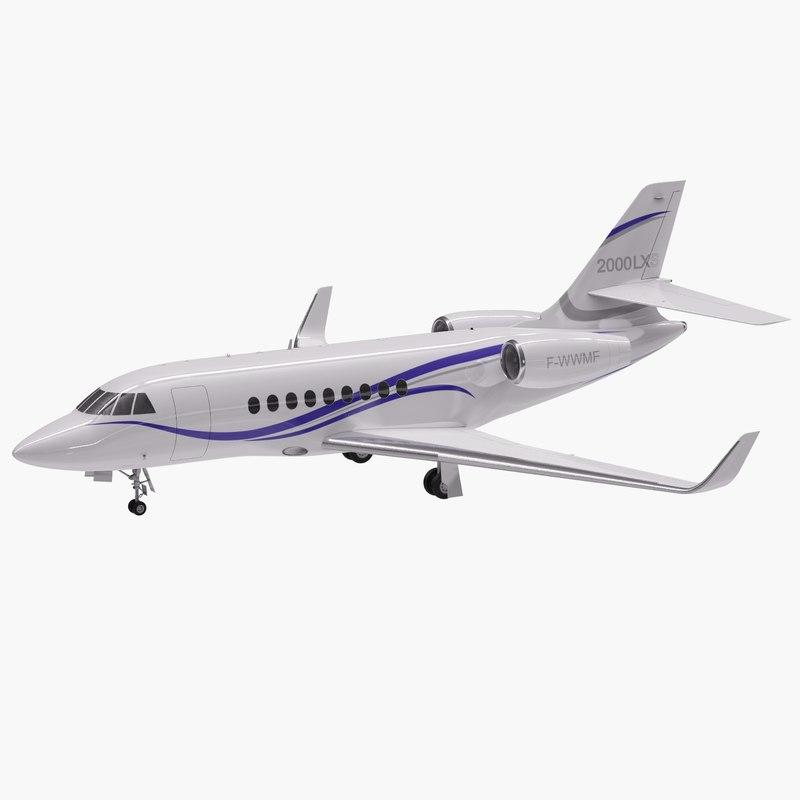 dassault falcon 2000lxs 3d 3ds