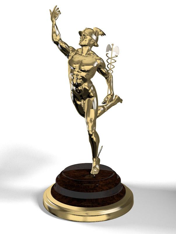 hermes statuette 3d model