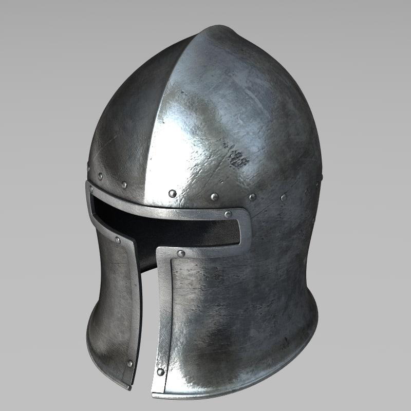 3d italian helmet barbute