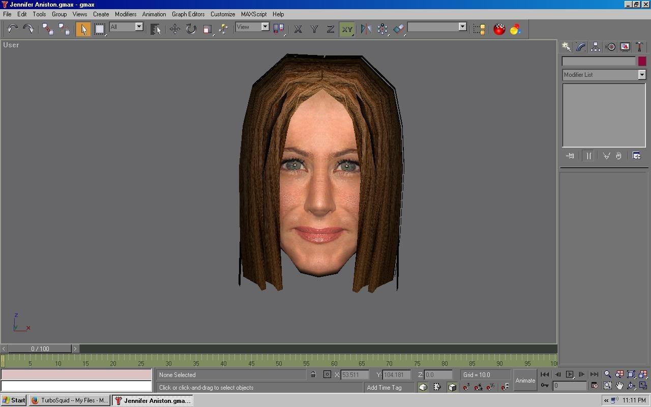 free jennifer head 3d model