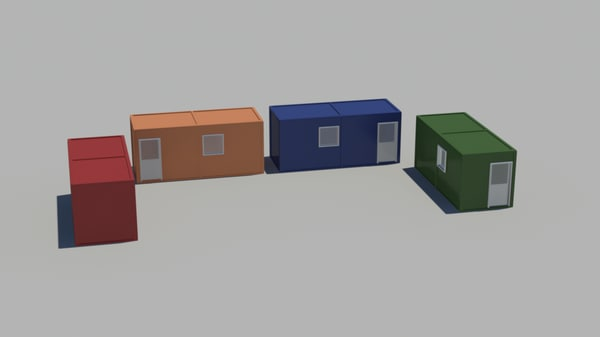 3d model containers