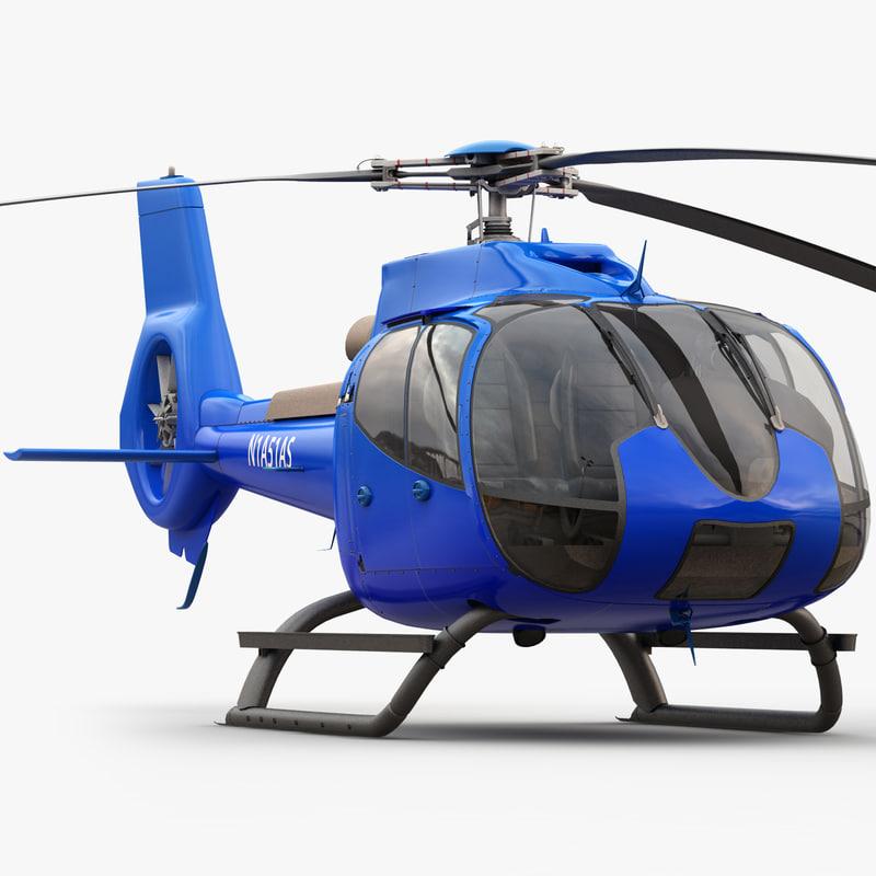 eurocopter ec 130 3d model