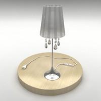 modern fashion bedside lamp 3d model