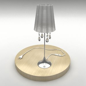 modern fashion bedside lamp 3d model