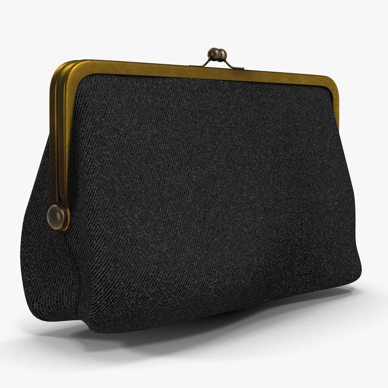 purse bag handbag 3d max