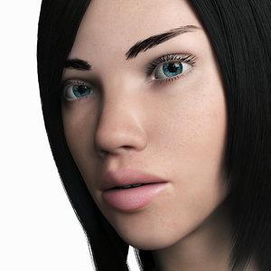 3d model of woman adriana