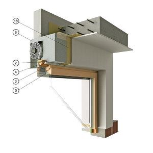 3d model window roller blinds section