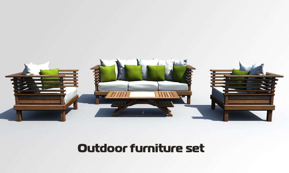 3d furniture outdoor model